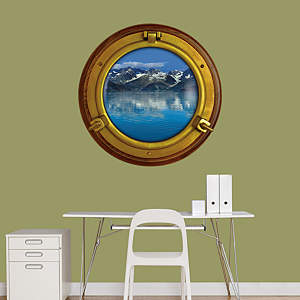 Mountain View: Porthole Fathead Wall Decal