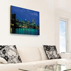 New York City Twin Towers Nightscape Canvas