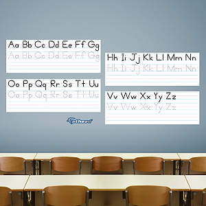 Dry Erase Print Handwriting Guide Fathead Wall Decal