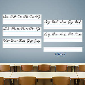 Dry Erase Cursive Handwriting Guide Fathead Wall Decal