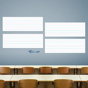 Dry Erase Handwriting Guide Fathead Wall Decal
