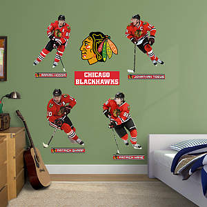 Shop chicago blackhawks wall decals graphics fathead nhl for Blackhawks mural chicago