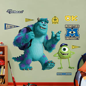 Mike and Sulley: Monsters University Fathead Wall Decal