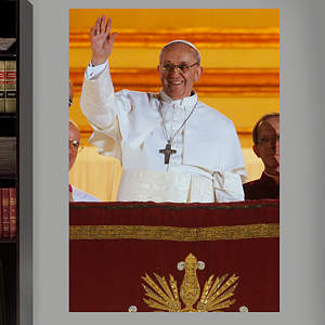Pope Francis Mural Fathead Wall Decal