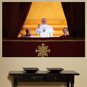 Pope Francis Balcony Mural Fathead Wall Decal
