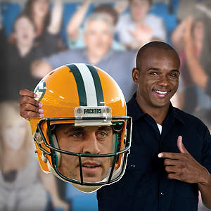 Aaron Rodgers Game Day Big Head Cut Out