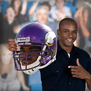 Adrian Peterson Game Day Big Head Cut Out