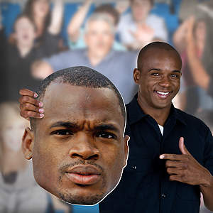 Adrian Peterson Big Head  Cut Out
