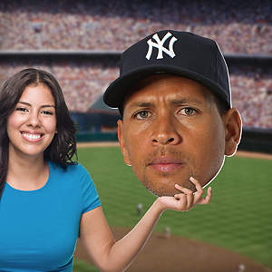 Alex Rodriguez Big Head Cut Out