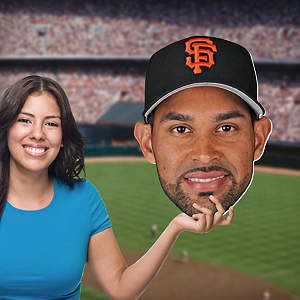Angel Pagan Big Head Cut Out