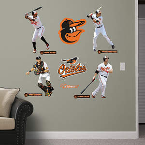 Baltimore Orioles Power Pack Fathead Wall Decal