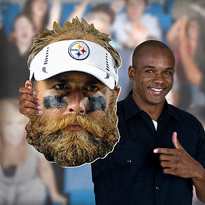 Brett Keisel Big Head Cut Out