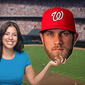Bryce Harper Big Head Cut Out