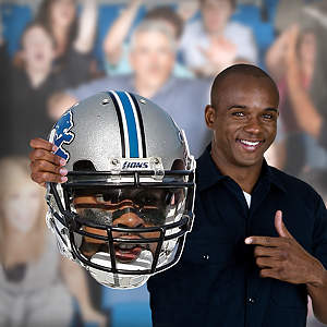 Calvin Johnson Jr. Game Day Big Head Cut Out