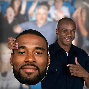 Calvin Johnson Jr. Big Head Cut Out