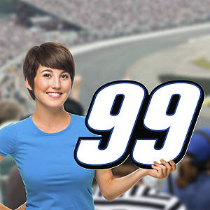 Carl Edwards - #99 Logo Big Head Cut Out