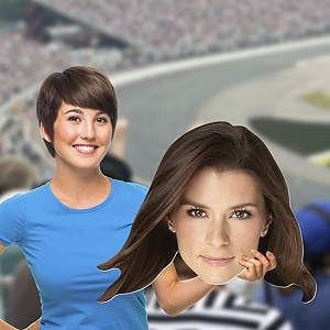 Big Head cut out of Danica Patrick from Fathead