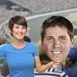 Denny Hamlin Big Head Cut Out