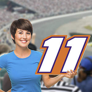 Denny Hamlin - #11 Logo Big Head Cut Out