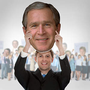 George W. Bush Big Head  Cut Out