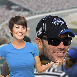 Jimmie Johnson Big Head Cut Out