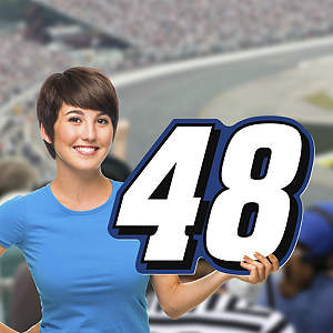 Jimmie Johnson #48 Logo Big Head Cut Out