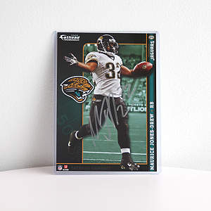 Autographed Maurice Jones-Drew - 2009 NFL Fathead Tradeable Fathead Decal