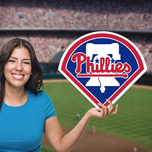 Philadelphia Phillies Logo Big Head Cut Out