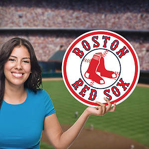 Boston Red Sox Logo Big Head Cut Out