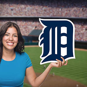 Detroit Tigers Logo Big Head Cut Out