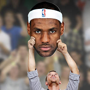 LeBron James Big Head sign