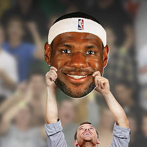 Big Head cut out of LeBron James from Fathead