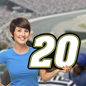 Matt Kenseth - #20 Logo Big Head Cut Out