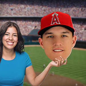 Mike Trout Big Head Cut Out