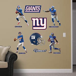 New York Giants Power Pack Fathead Wall Decal