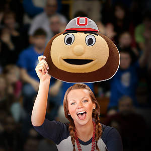 Brutus Buckeye Big Head - Ohio State Cut Out
