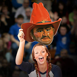 Pistol Pete Big Head - Oklahoma State Cut Out