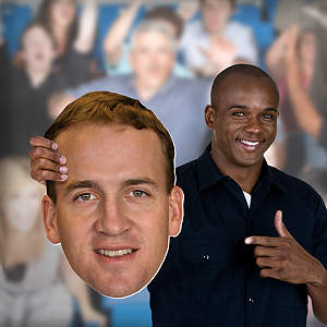 Peyton Manning Big Head Cut Out