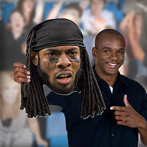 Richard Sherman Big Head Cut Out