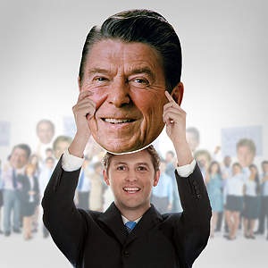 Ronald Reagan Big Head  Cut Out