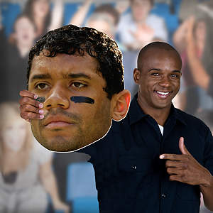 Big Head cut out of Russell Wilson from Fathead