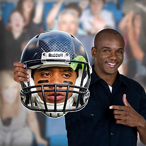 Russell Wilson Game Day Big Head Cut Out