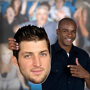 Tim Tebow Big Head Cut Out
