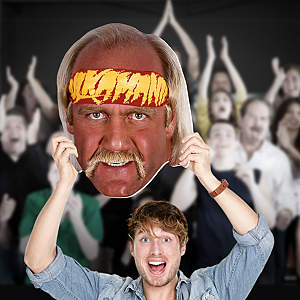 Big Head cut out of Hulk Hogan from Fathead