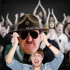 Sgt. Slaughter Big Head Cut Out