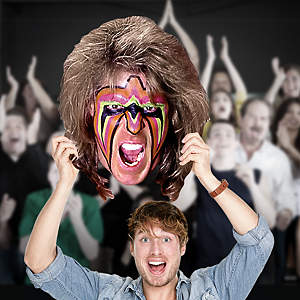 Ultimate Warrior Big Head  Cut Out