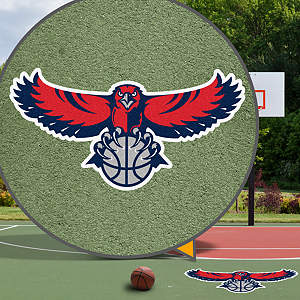 Atlanta Hawks Street Grip Outdoor Graphic