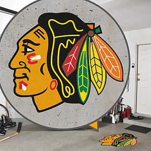 Street Grip outdoor decal of the Chicago Blackhawks' logo