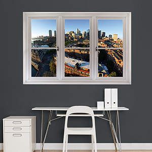 Boston Skyline: Instant Window Fathead Wall Decal