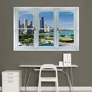 Chicago Skyline: Instant Window Fathead Wall Decal